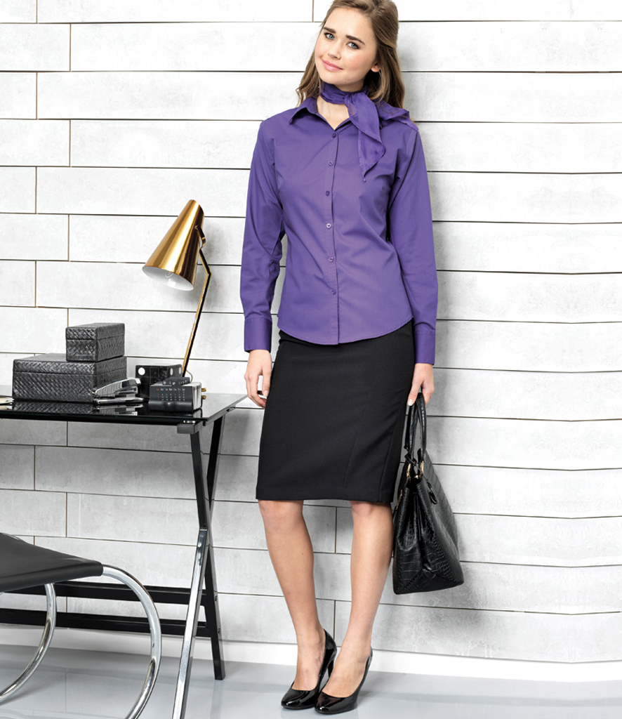 2ba0645b694fa Russell Collection Ladies Long Sleeve Ultimate Non-Iron Shirt - 956F -  Adwear Ltd