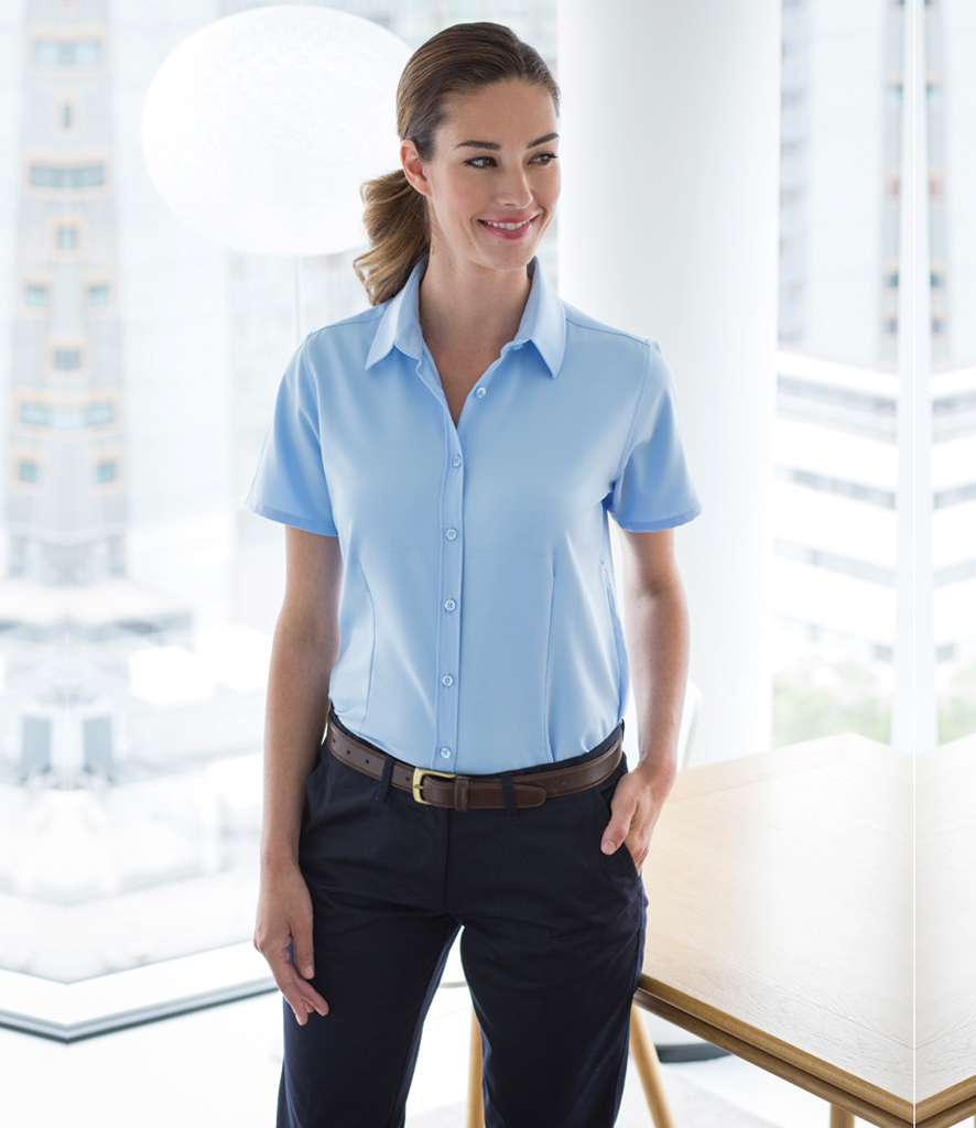 f3f6da205ac21 Russell Collection Ladies Short Sleeve Ultimate Non-Iron Shirt – 957F